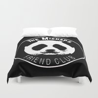 misfits Duvet Covers featuring Mishaps Friend Club by IRIS Photo & Design
