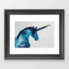 Blue Unicorn Framed Art Print