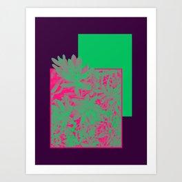 Neon Greenery #society6 #succulent Art Print