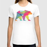 neon genesis evangelion T-shirts featuring Fractal Bear - neon colorways by Picomodi
