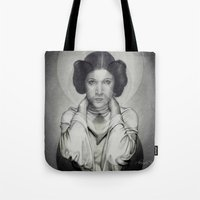 leia Tote Bags featuring Leia by Alexandra Bastien