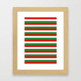 italy hungary bulgaria iran mexico Madagascar flag stripes Framed Art Print