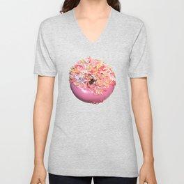 Craving Krispy Cremes Pink Unisex V-Neck