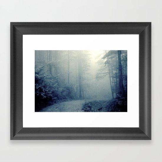 Wander in a Woodland Fog Framed Art Print