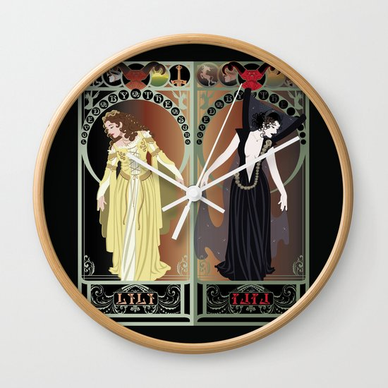 Legend Nouveau - Mirrored Wall Clock