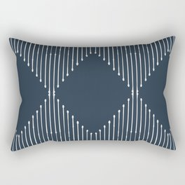 Geo (Annapolis Blue) Rectangular Pillow