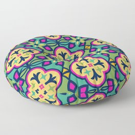 Colorful Morocan Tile Pattern Floor Pillow