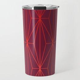 ELEGANT BEED RED TANGERINE  PATTERN Travel Mug