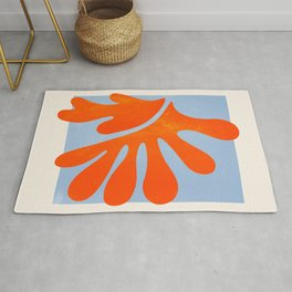Red Coral Leaf: Matisse Paper Cutouts II Rug
