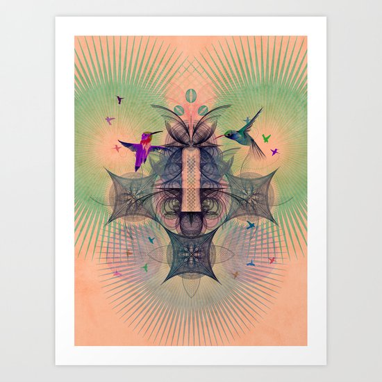 The Hummingbird Dimension Art Print