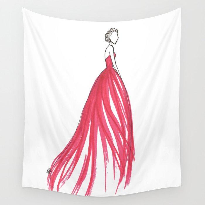 Crimson Wall Tapestry