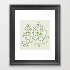 Green is in Bloom Framed Art Print