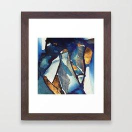 Cobalt Abstract Framed Art Print
