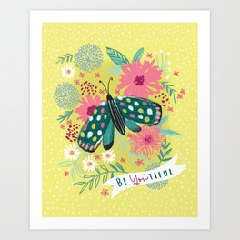BEYOUTIFUL BUTTERFLY Art Print