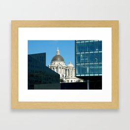 Liverpool skyline Framed Art Print