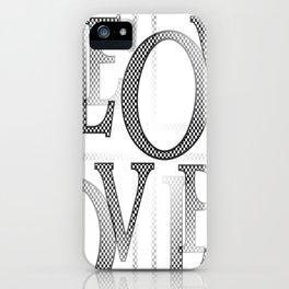 Jumbled Love iPhone Case