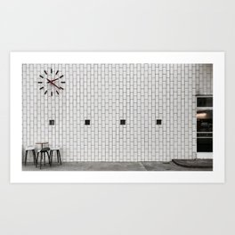 porcelain pattern petrol Art Print