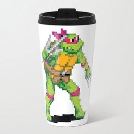 Pixelated Teenage Mutant Ninja Turtles (TMNT) - Raphael Travel Mug