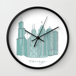 Chicago Architecture Wall Clock