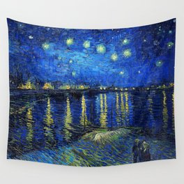 Starry Night Over the Rhone by Vincent van Gogh Wall Tapestry