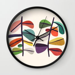 Plant specimens Wall Clock