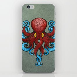 Red Dectopus iPhone Skin