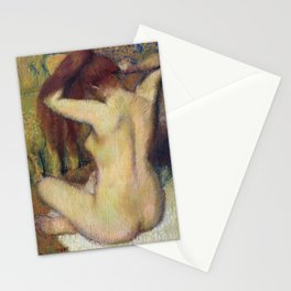 Woman Combing Her Hair by Edgar Degas Stationery Cards