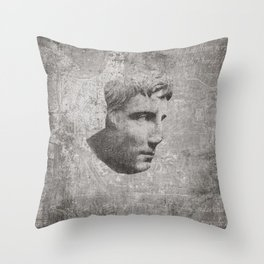 ANCIENT / Head of Augustus Throw Pillow