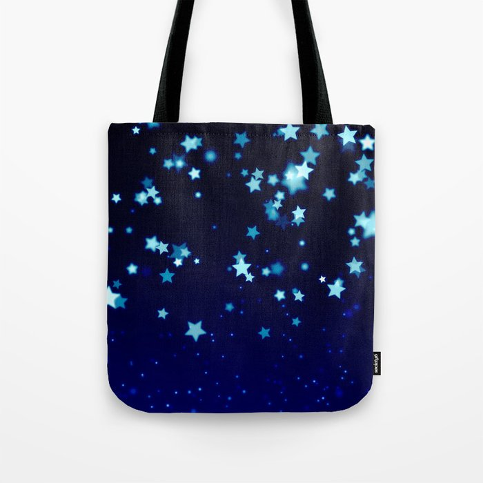 Twinkle Blue Stars1 Tote Bag