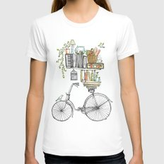Pleasant Balance White Womens Fitted Tee MEDIUM