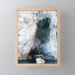 Cave in Capri Framed Mini Art Print