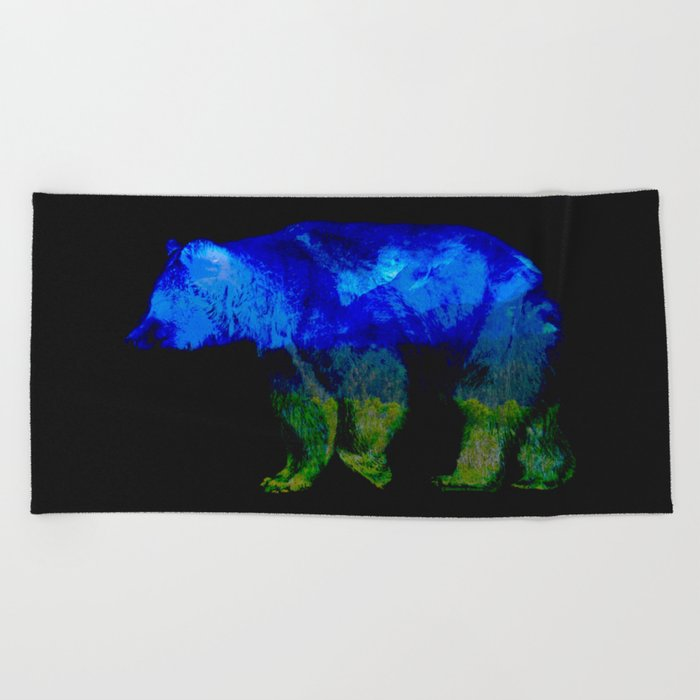 Grizzly in the Shadows Beach Towel