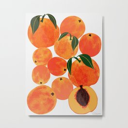 Peach Harvest Metal Print