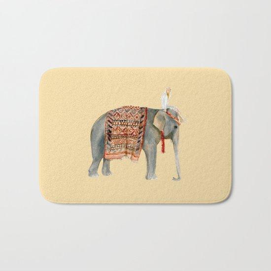 Elephant Ride on Sand Bath Mat