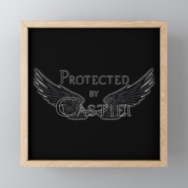 Protected by Castiel Black Wings Framed Mini Art Print