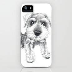 Schnozz the Schnauzer iPhone (5, 5s) Slim Case
