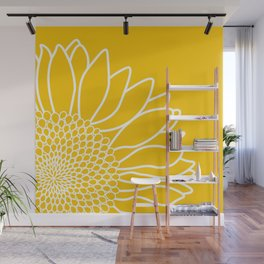 Sunflower Cheerfulness Wall Mural