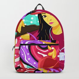 Flowing Candy Colored Scorpion Gun Girl Backpack