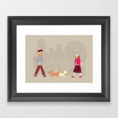 Dog People Framed Art Print