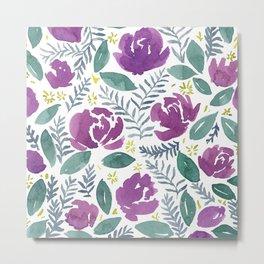 flores violetas Metal Print