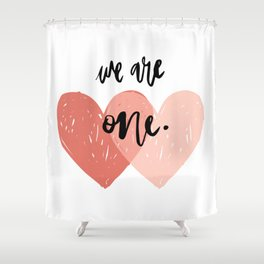 Soul mates hearts Shower Curtain