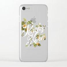 Peachy Keen : Peach Clear iPhone Case