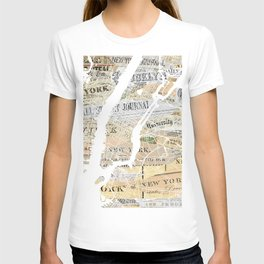 New York map T-shirt