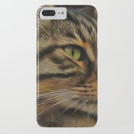 Aslan The Long Haired Tabby Cat iPhone Case