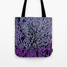 Tangled Tree Branches in Purple and Pink Tote Bag