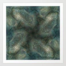 Graphic symmetric design background Art Print
