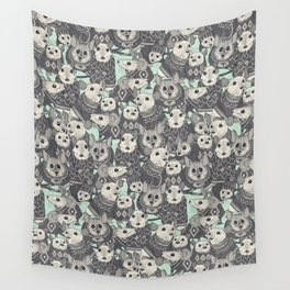 sweater mice mint Wall Tapestry