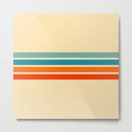 Ienao - Classic 70s Retro Stripes Metal Print