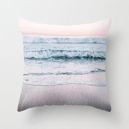 Pink Sea II Throw Pillow