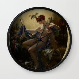 Anne-Louis Girodet de Roussy-Trioson - Portrait of Mlle Lange as Danae Wall Clock